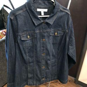 Croft & Barrow jean jacket blazer 2x